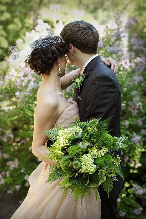 Fresh Greenery Bridal Bouquets