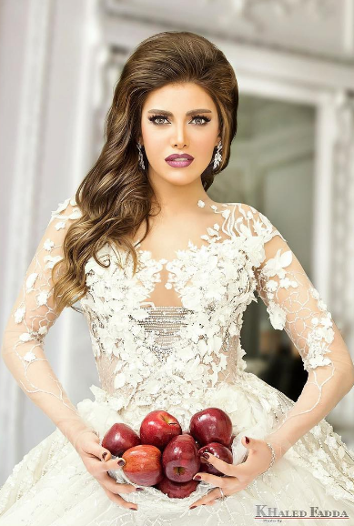 Beautiful Wedding Dresses Modeled by Arab Celebrities