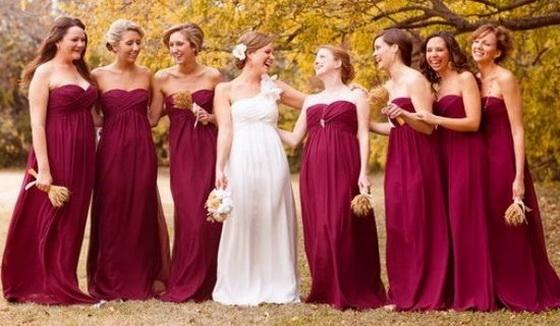 6 Stunning Burgundy Bridesmaid Dresses For Fall