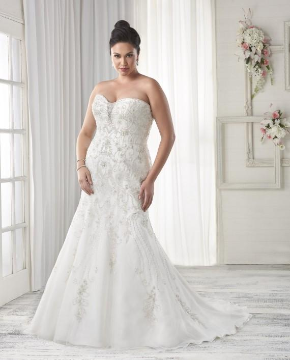 7 Strapless Wedding Dresses We Love  For The Curvy Bride