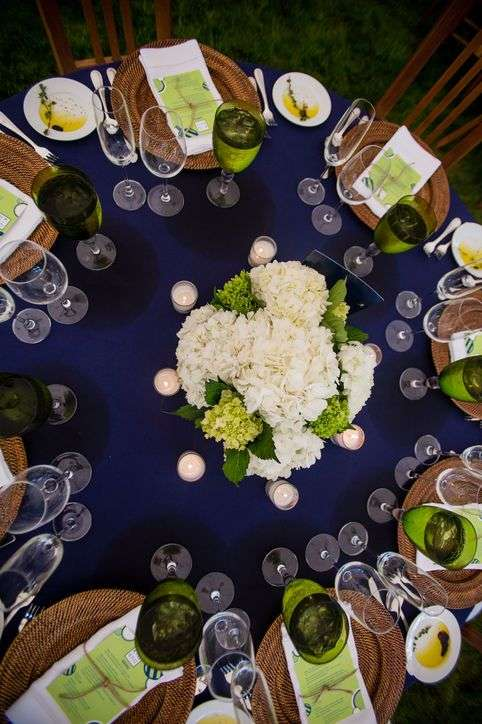 Blue And Green Dining Room: A Navy Blue And Green Wedding