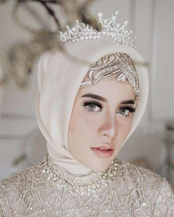 3a59909035789 صور عرايس محجبات لعام 2018 - أجمل صور للعروسه المحجبة