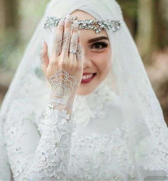 142f59fff84c9 صور عرايس محجبات لعام 2018 - أجمل صور للعروسه المحجبة