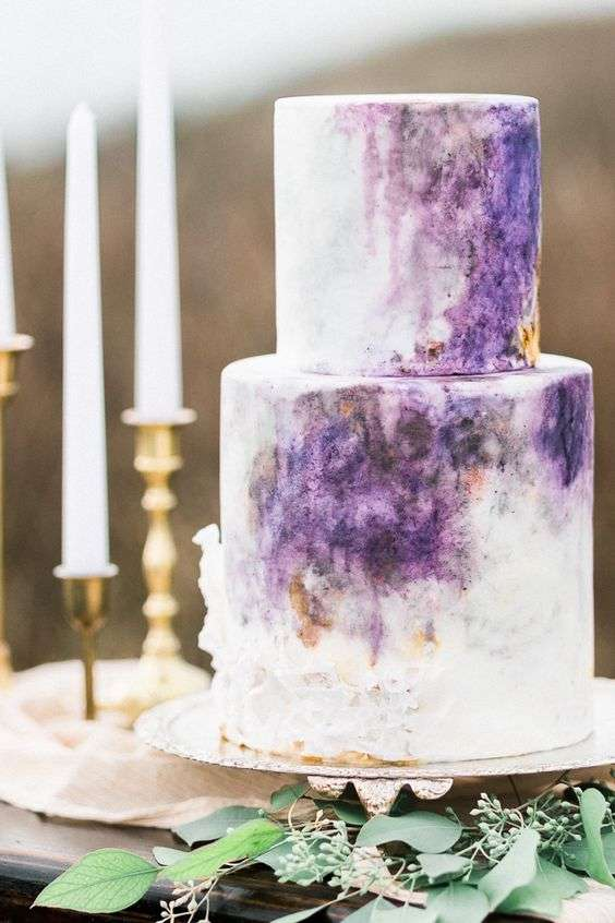 Beautiful Pink and Purple Wedding Cakes - Arabia Weddings
