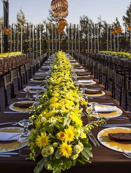 Extravagant Sunflower Wedding Centerpieces Marvelous Table. A Sunflower Wedding Theme By My Event Design - Arabia Weddings & Breathtaking Sunflower Wedding Table Settings Ideas - Best Image ...