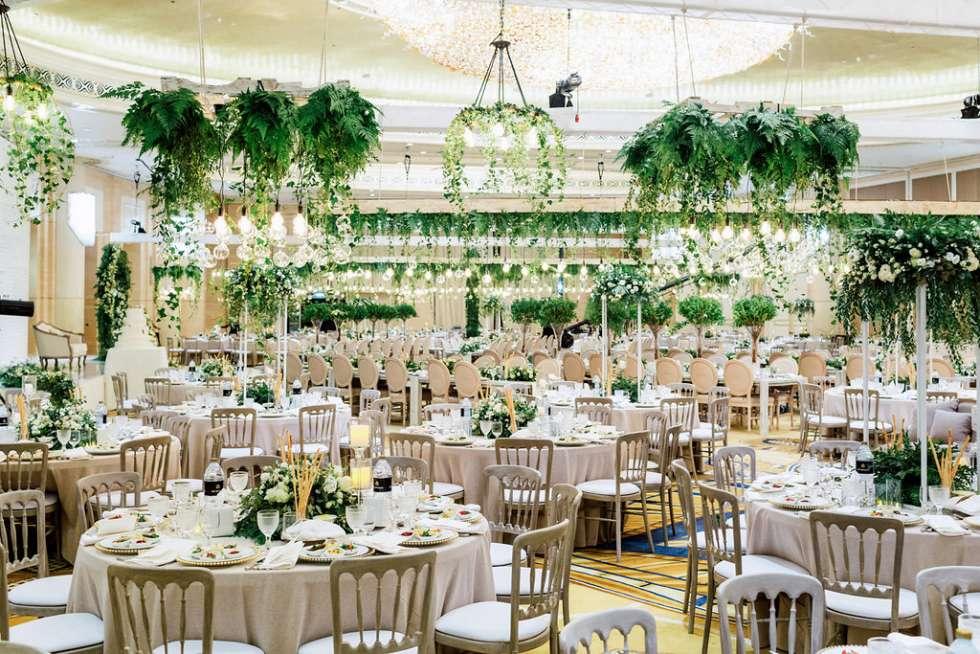Luxury Wedding Indoor: An Indoor Rich Garden Wedding In Abu Dhabi