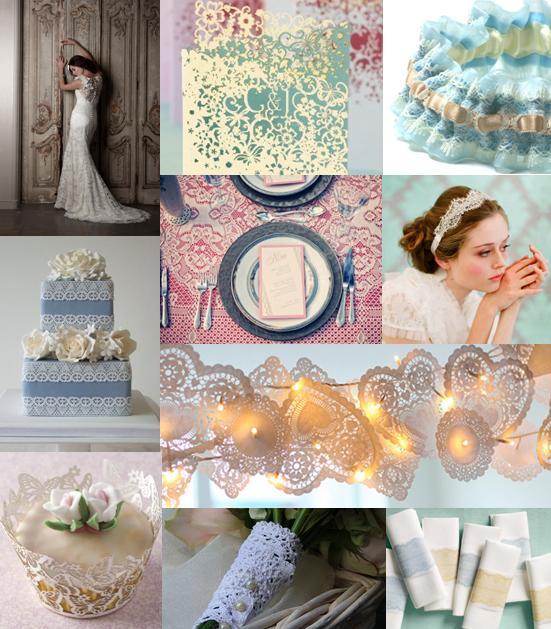 themes lace wedding ideas