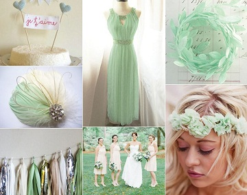 Your Wedding In Colors A Mint Green