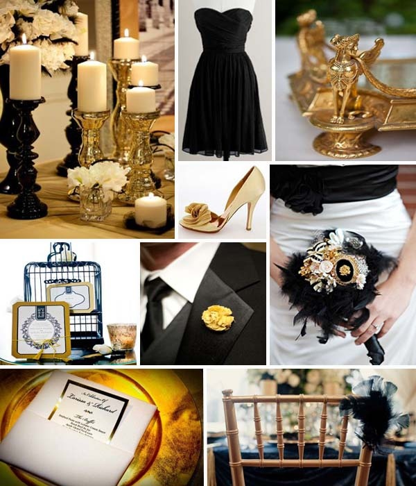 Your Wedding In Colors Black And Gold