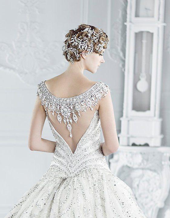 The Wedding Dress with a Dramatic Back - Arabia Weddings
