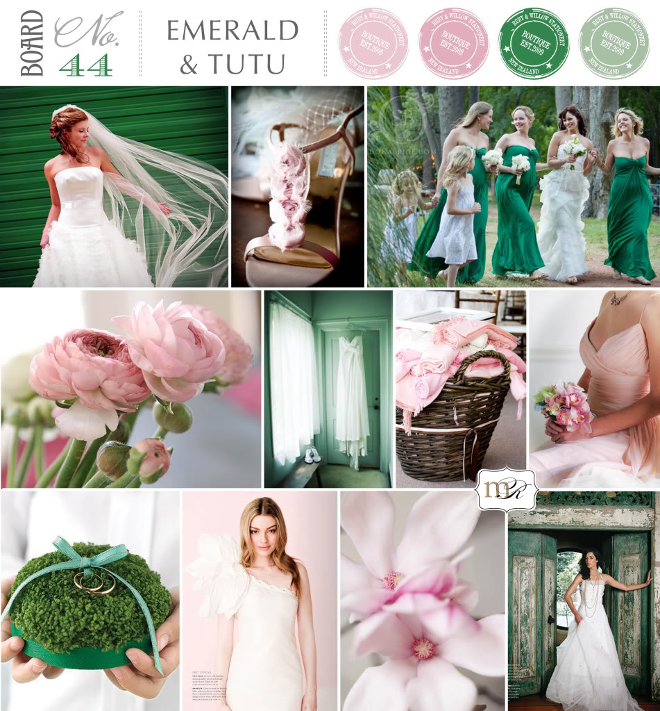 Your Wedding In Colors Emerald And Rose Pink