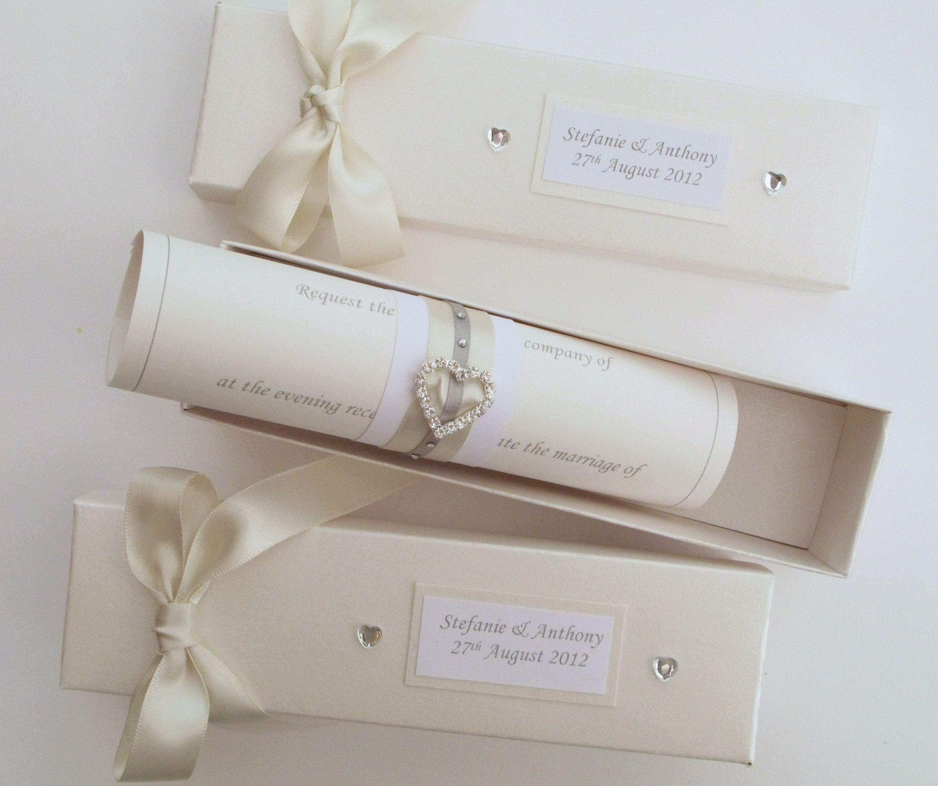 Luxury Scroll Invites Wedding Embellishment Invitation Card