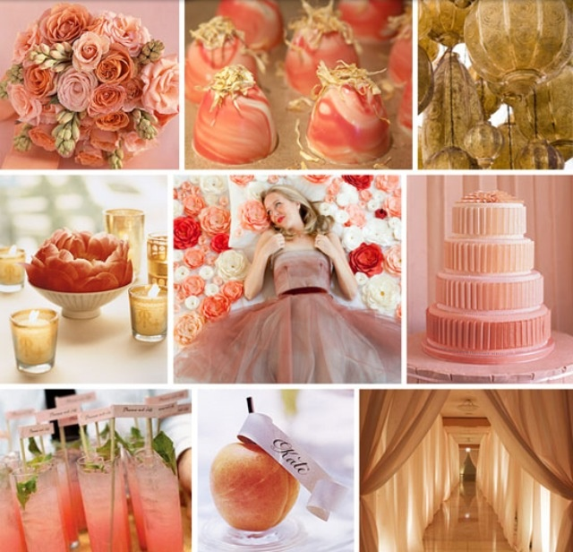 your wedding in colors  coral and gold
