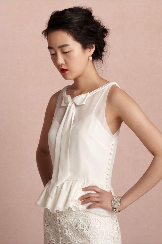 3bdf1648a1 Bridal Fashion Trend: Two Piece Wedding Dress   Arabia Weddings