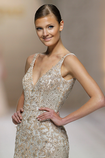 Bridal Fashion Trend Bridal Gowns With Rose Gold Accents Arabia