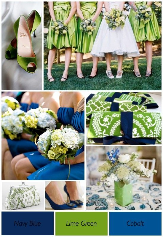 Your Wedding In Colors Navy Blue And Green