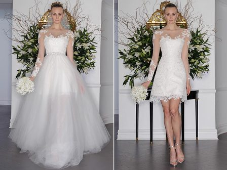 Bridal Fashion Trend Detachable Skirts