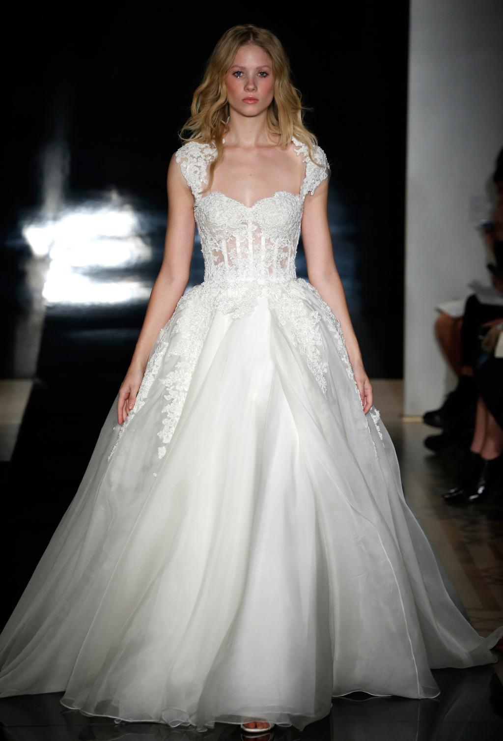 The talented reem acra featured her latest bridal collection for