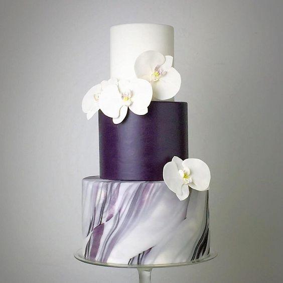 Fashion 2017 egypt - Marble Wedding Cakes Arabia Weddings