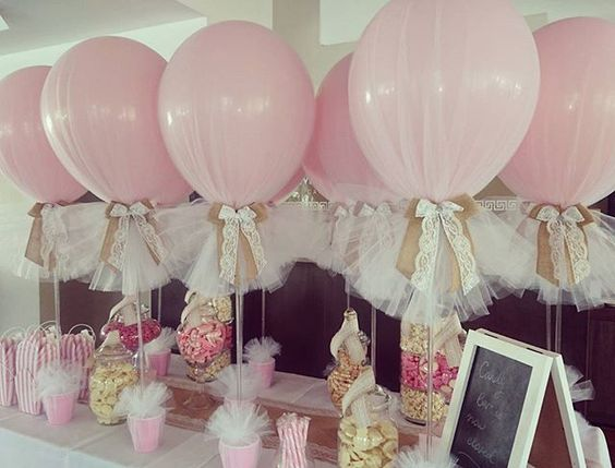 Wedding Decoration With Balloons With Tulle