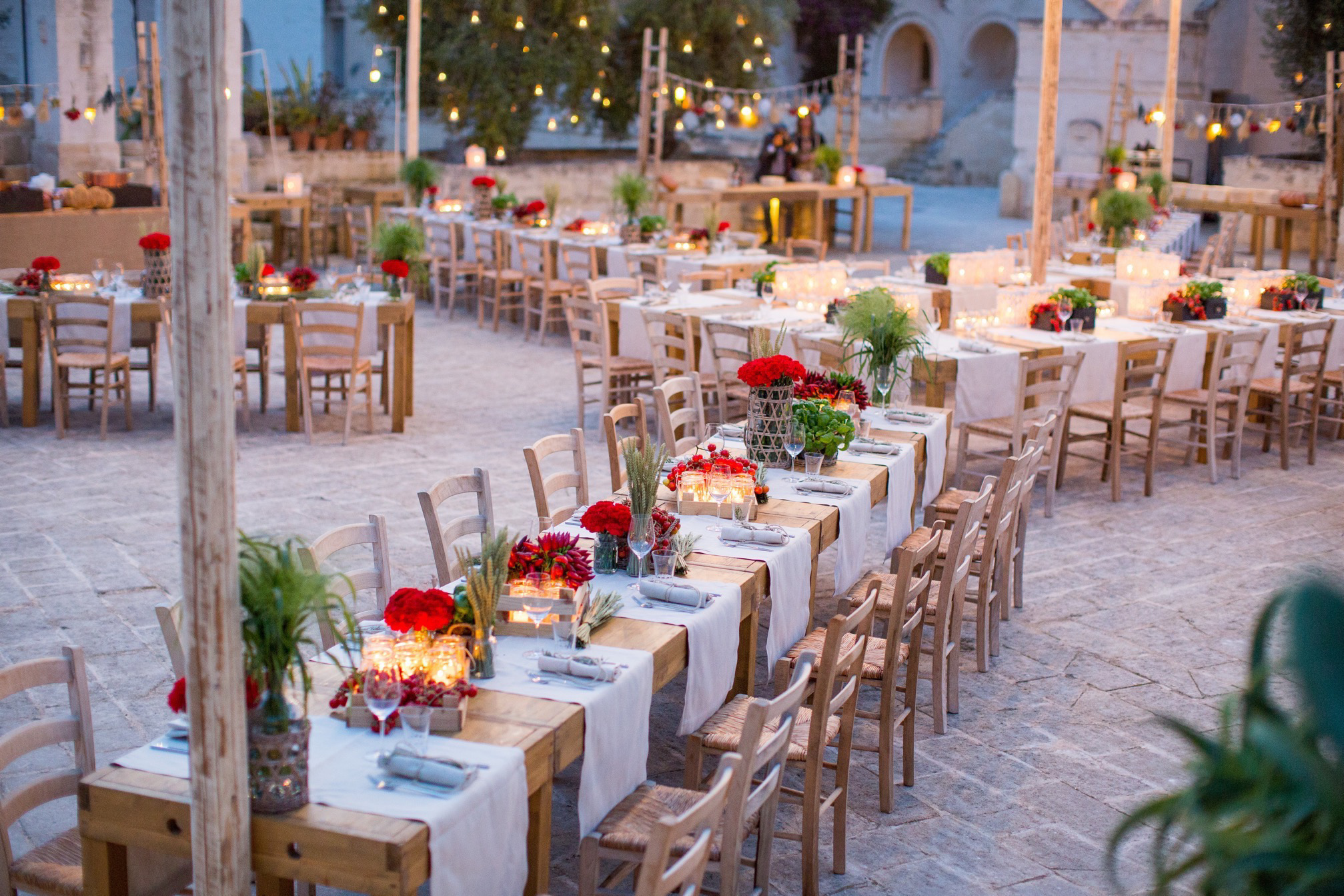Jordanian Wedding Planner Organises Pre Apulian Welcome Dinner In Italy
