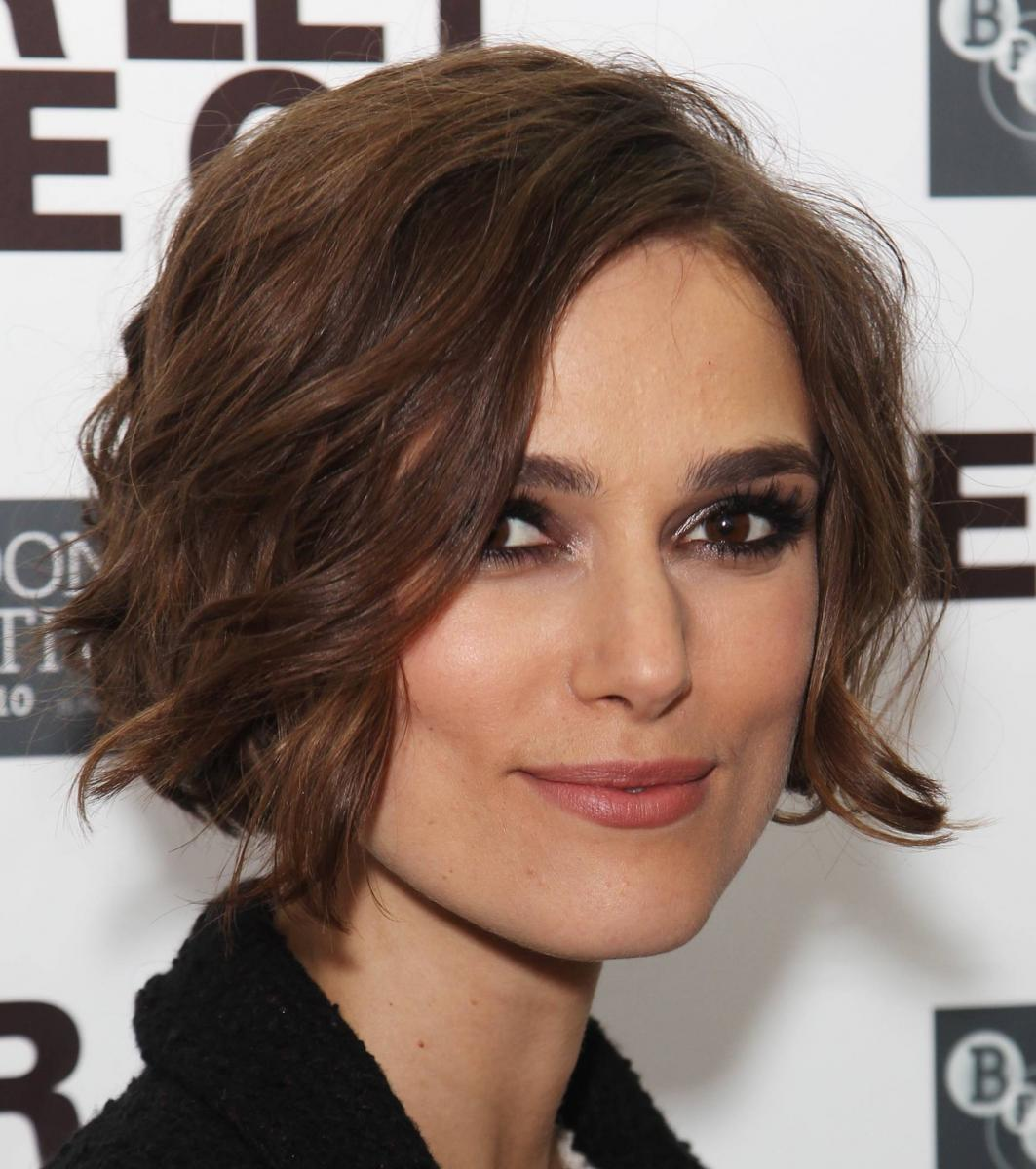 another great haircut for the square faced is a short wavy bob cut ...