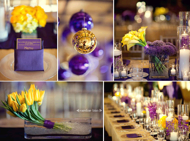 Purple Ideas For Weddings: Your Wedding In Colors: Yellow And Purple