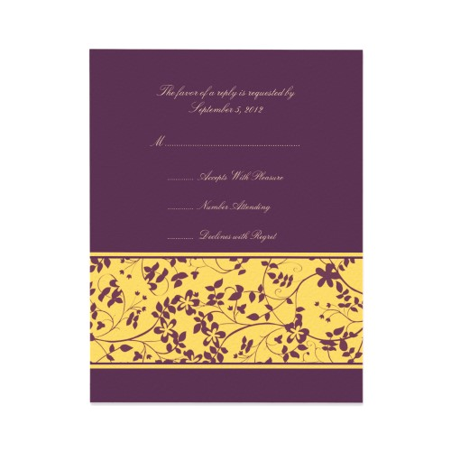 Your Wedding In Colors Yellow And Purple