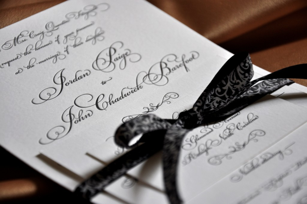 Black And White Wedding Invitation Cards Celebration Blog Invitations