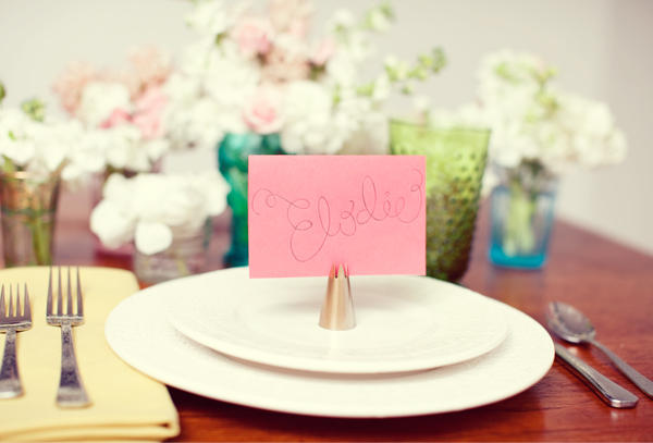 2 You Can Have The Names Of Your Guests Printed Out On Cards Which Are Placed In Front Each Seat