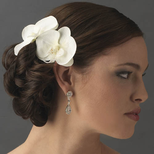Wedding Hairstyle Flowers: Orchids Wedding Theme