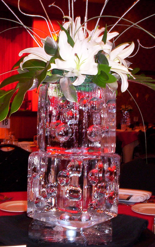 Ice sculpture centerpieces at your wedding arabia weddings