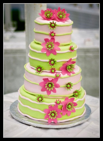 lime green and hot pink wedding cakes wedding ideas watermelon pink and lime green wedding 16896