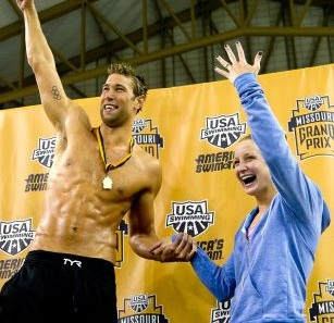 Matt Grevers The Olympic Swimmer Proposed To Annie Chandler After He Won Gold In 100 Meter Backstroke At Missouri Grand Prix
