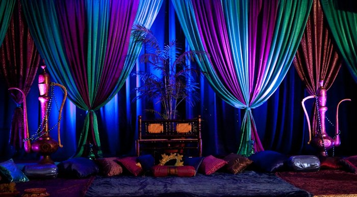 Arabian nights wedding theme arabia weddings for Arabian party decoration ideas
