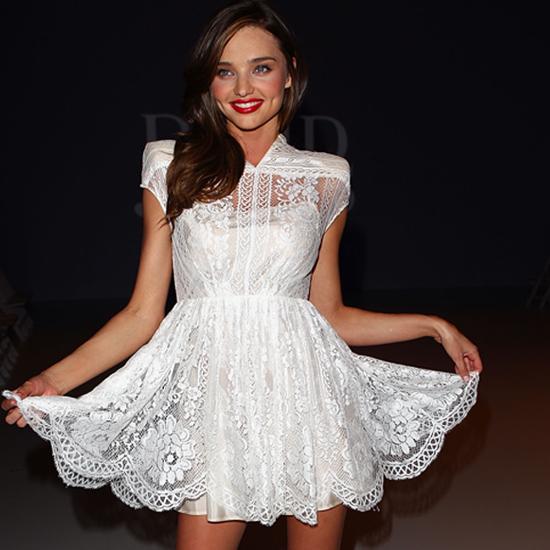 popular white celebrity dresses