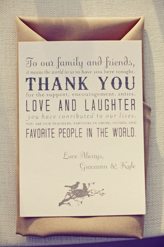 wedding etiquette thank you notes for your guests