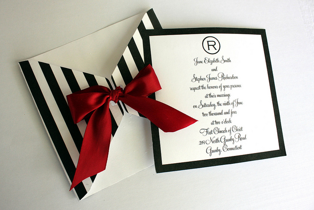 Striped Wedding Invitations: Your Wedding In Stripes