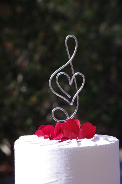 Musical Themed Wedding Cake Toppers