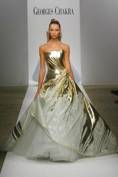 Blake lively in gold wedding dress for gossip girl season for Last season wedding dresses