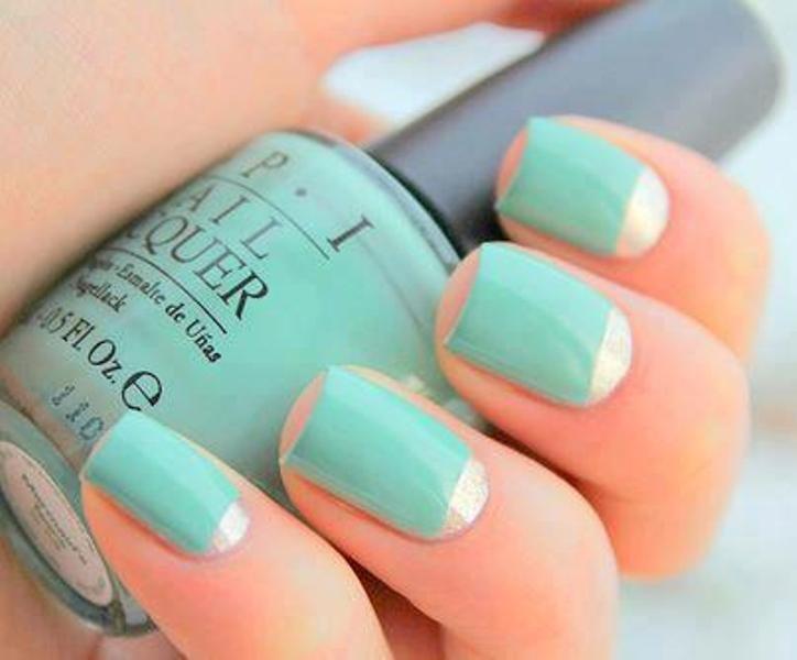 Cute #mint nails | Yebab.com