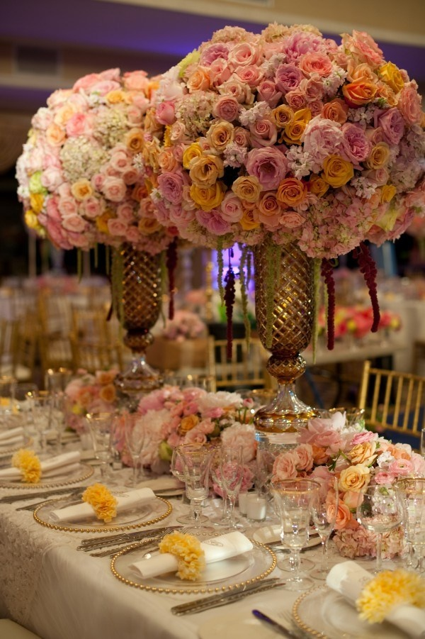 Your Wedding In Colors Pink And Yellow