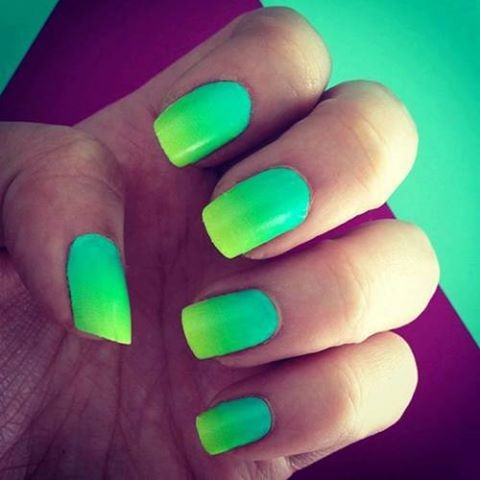 Latest Nail Trend: Neon Dip Dye Nails - Arabia Weddings