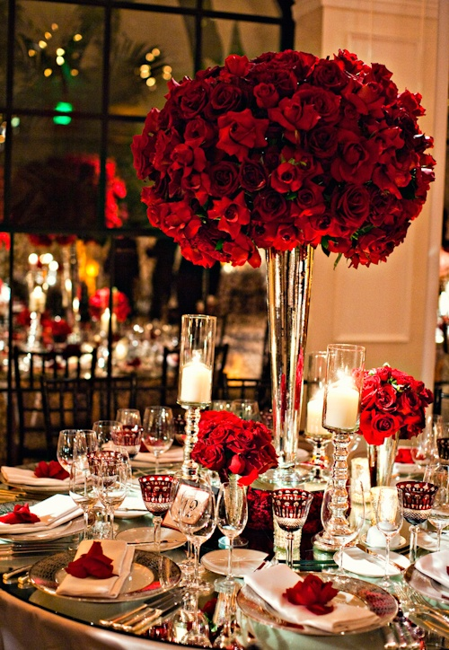 Your elegant wedding flower red roses arabia weddings