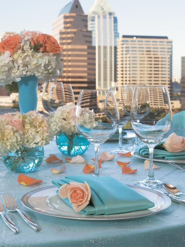 Your Wedding In Colors Peach And Blue Arabia Weddings