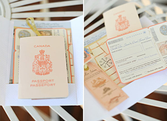 Wedding Passport Invitation: A Travel Wedding Theme For The Travel Lovers