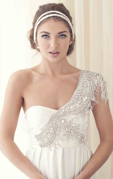 A grecian bridal look for your wedding arabia weddings for Greek wedding dress designers