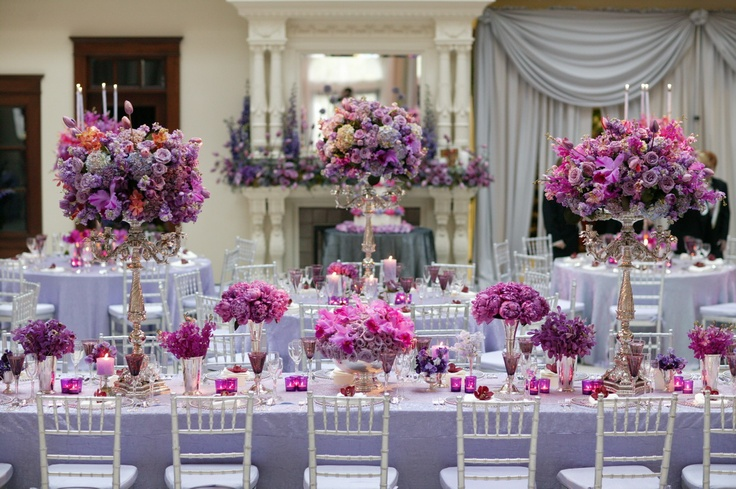 Purple Ideas For Weddings: Your Wedding In Color: Silver And Purple