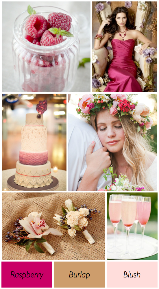 Your Wedding In Colors Neutrals And Berry