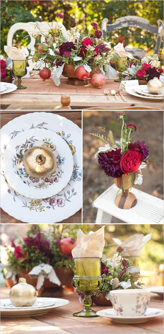 A Pomegranate Wedding Theme Arabia Weddings